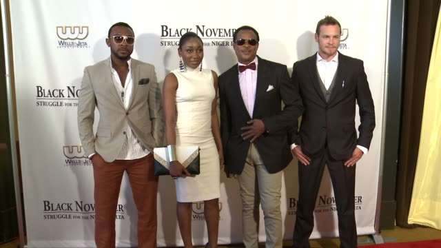 enyinna nwigwe mbong amata fred amata and nathin butle black at november screening in washington dc at the john f kennedy center for performing arts... - john f. kennedy center for the performing arts stock videos and b-roll footage