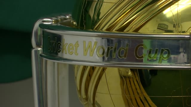 vídeos y material grabado en eventos de stock de eoin morgan revisits finchley cricket club finchley cricket club london uk eoin morgan interviews close shots of cricket world cup morgan signing bat... - bate de críquet