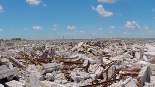 epecuen - abandoned city - buenos aires video stock e b–roll