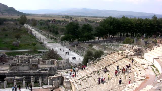 ephesus, amphitheater - byzantine stock videos & royalty-free footage