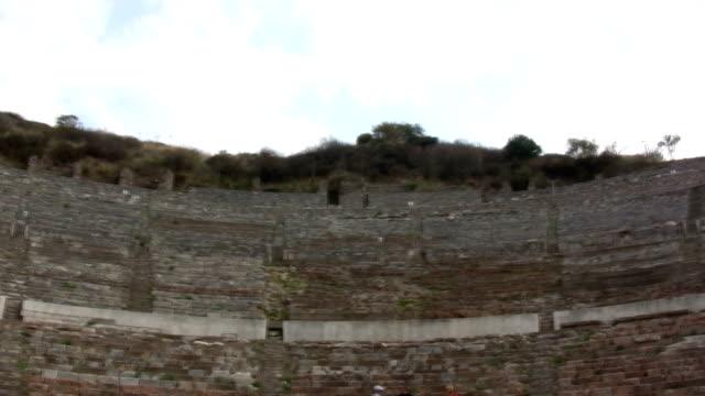 ephesus, amphitheater - athens greece stock videos & royalty-free footage