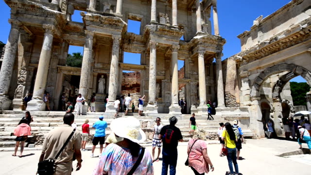 steadicam: ephesus ancient city - izmir stock videos & royalty-free footage