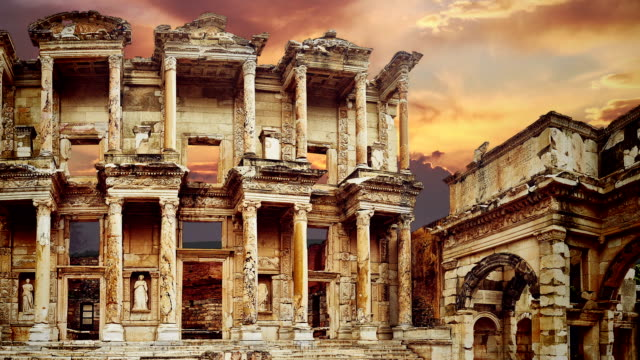 ephesus, zoom out - ancient rome stock videos & royalty-free footage
