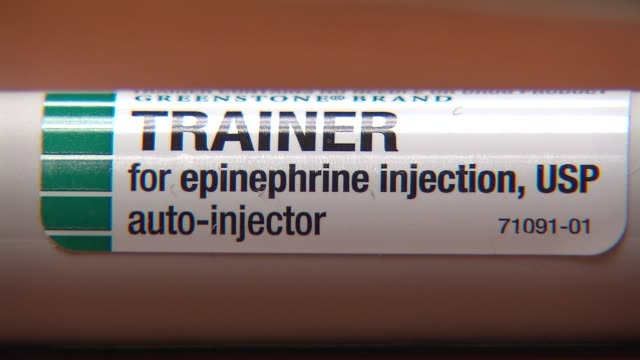 epi pen - allergy stock videos & royalty-free footage