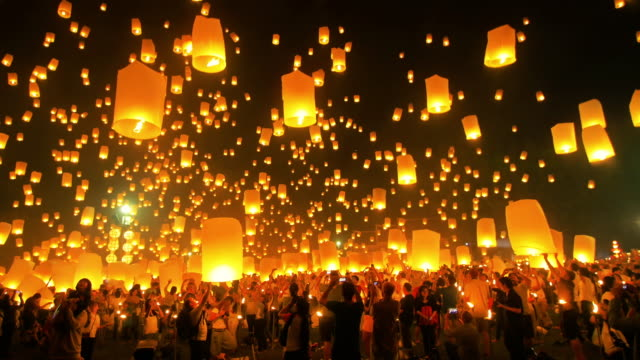 epic 4k - sky lantern stock videos & royalty-free footage