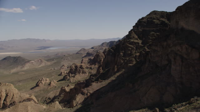 Epic Aerial View Of Mountains And Rocks In Desert