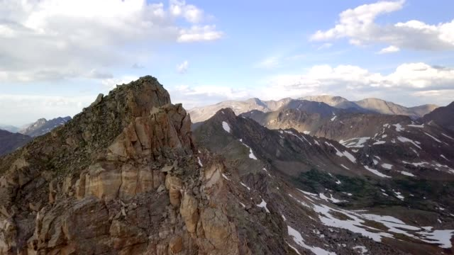 epic mountain flyby - colorado stock videos & royalty-free footage