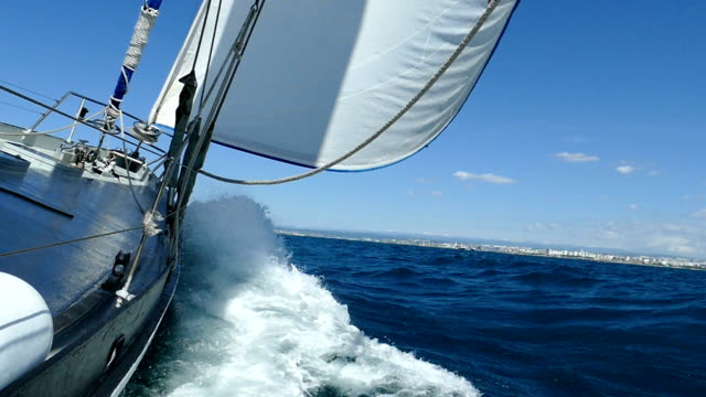 epic race under the sail (slow motion) - yacht stock videos & royalty-free footage