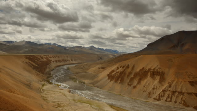 Epic timelapse shot of himalayan valley in an arid landscape