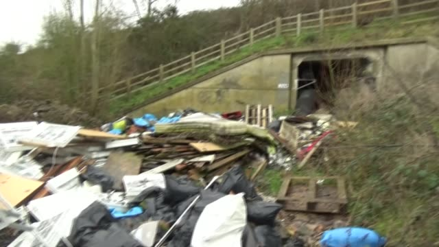 epidemic of litter on motorways; england, edgware; gvs of rubbish by the side of the motorway, clean up britain founder john read interview, gvs of... - side view stock videos & royalty-free footage