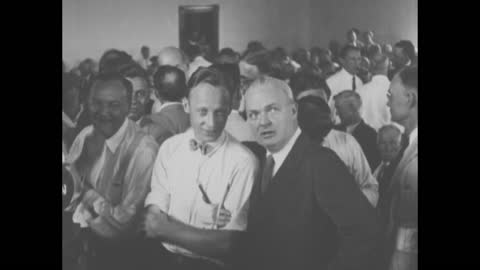 """episode b-05] greatest headlines of the century title sequence / title: """"scopes trial ends"""" with photo of judge john t. raulston reading from the... - virginia us state stock videos & royalty-free footage"""