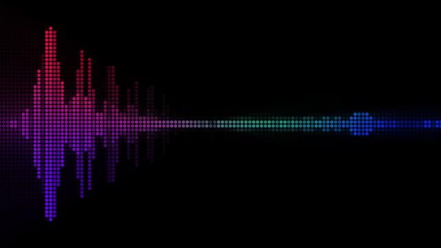 equalizer sound spectrum waveform (+ audio) - spectrum stock videos and b-roll footage