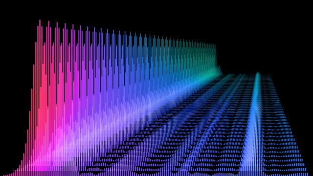 equalizer-spectrum waveform-(audio - pulsierend stock-videos und b-roll-filmmaterial
