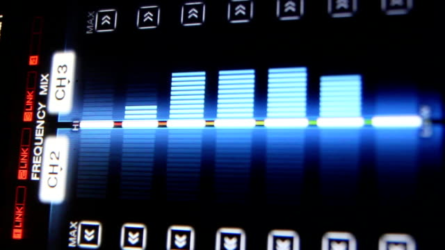 vídeos y material grabado en eventos de stock de ecualizador - medidor