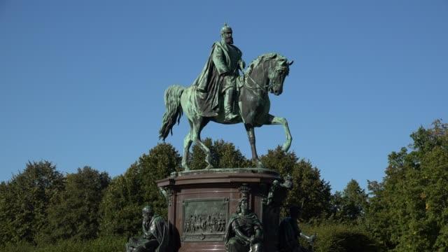 Equestrian statue of Friedrich Franz II at Palace Gardens, Schwerin, Mecklenburg-Western Pomerania, Germany