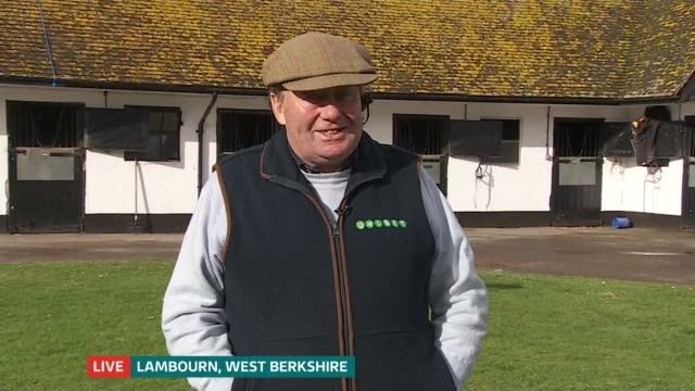 announcement to be made on whether racing shutdown will continue england london gir int nicky henderson live 2way interview from lambourn sot west... - hoof stock videos & royalty-free footage