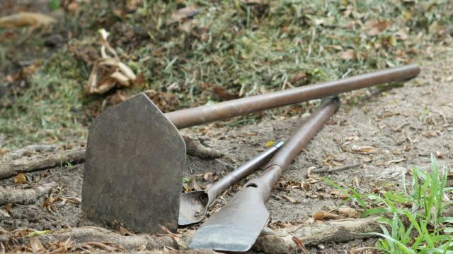 vídeos de stock, filmes e b-roll de equipamentos para jardim - imperfeição