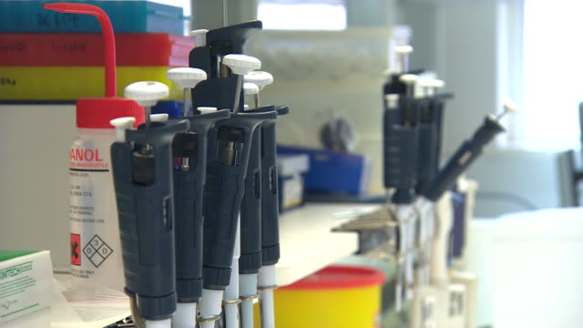 Equipment inside a medical laboratory
