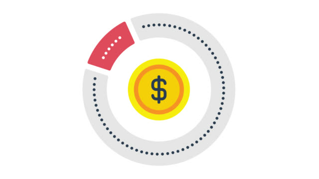 equity glitch effect icon animation with alpha - pie chart stock videos & royalty-free footage
