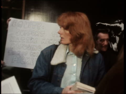 london london coliseum vanessa redgrave outside intvw kenneth moore nigel davenport - london coliseum stock videos and b-roll footage
