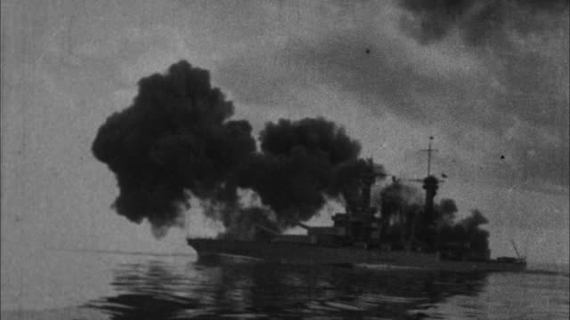 era battleship fires / france - 1917 stock videos & royalty-free footage
