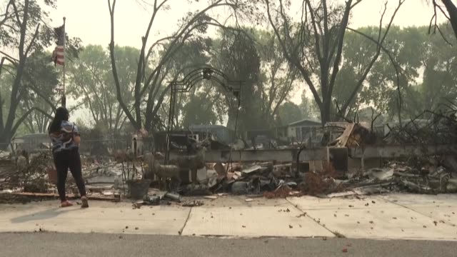 eraida rodas had to leave her home behind when the almeda fire hit the trailer park where she and her family had been living for 12 years in talent... - trailer home stock videos & royalty-free footage