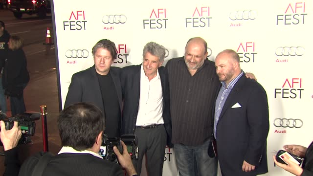 stockvideo's en b-roll-footage met eran riklis stephen dorff gareth unwin cyril morin at afi fest 2012 ginger and rosa special screening on 11/7/2012 in hollywood ca - stephen dorff