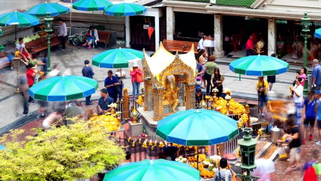 エラワン聖堂バンコク、time lapse (低速度撮影) - エラワン聖堂点の映像素材/bロール