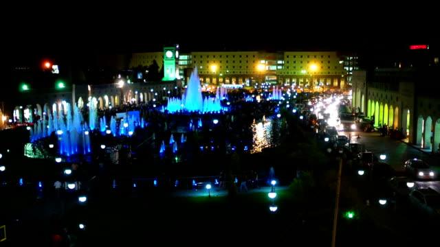 erbil - iraq road in night - iraq stock videos & royalty-free footage