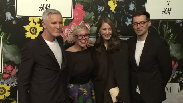 Erdem Moralioglu AnnSofie Johansson Baz Luhrmann Catherine Martin at HM x ERDEM Runway Show Party at The Ebell Club of Los Angeles on October 18 2017...