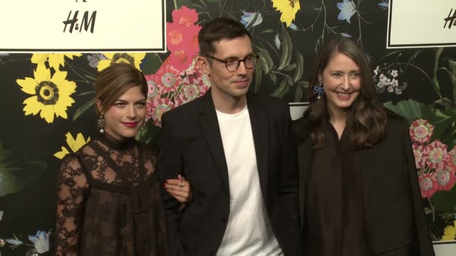 Erdem Moralioglu AnnSofie Johansson Selma Blair at HM x ERDEM Runway Show Party at The Ebell Club of Los Angeles on October 18 2017 in Los Angeles...