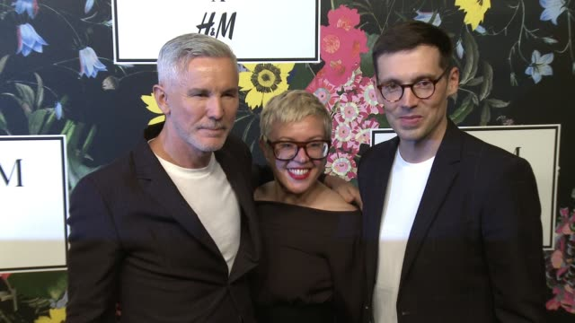 Erdem Moralioglu Baz Luhrmann Catherine Martin at HM x ERDEM Runway Show Party at The Ebell Club of Los Angeles on October 18 2017 in Los Angeles...