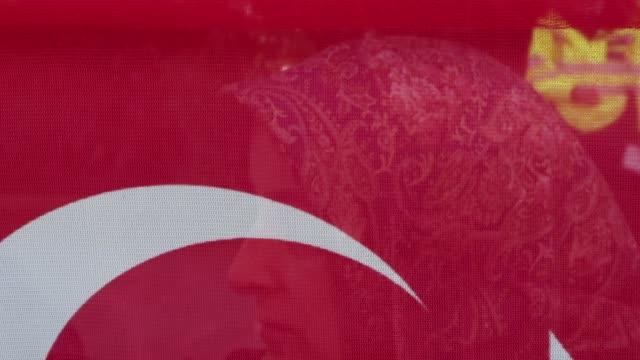 Erdogan supporters gather outside Chatham House ahead of a visit by the Turkish President Recep Tayyip Erdogan on May 14 2018 in London England Mr...