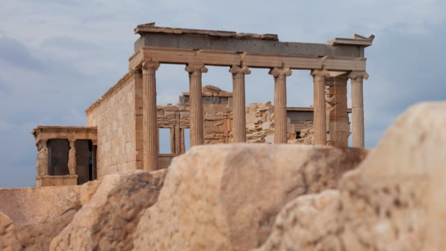 erechtheion temple - the erechtheion stock videos & royalty-free footage