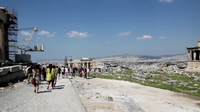 erectheion, acropolis, athens, greece - the erechtheion stock videos & royalty-free footage