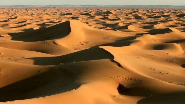 Erg-Chigaga sand dunes. Sahara Desert, Mhamid, Morocco