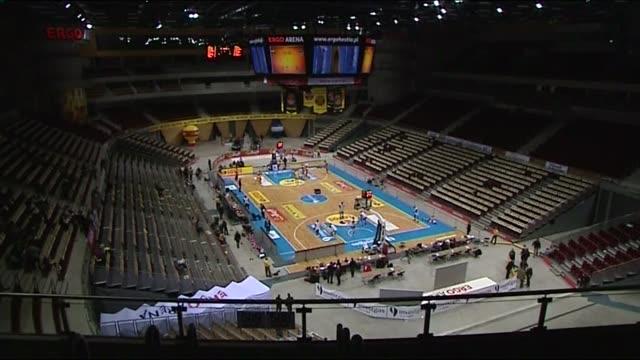 ergo arena - hall interior - scoreboard stock videos & royalty-free footage