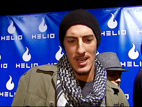 eric balfour on the event helio drift wedding wishes for tom cruise and katie holmes at the helio drift launch on november 13 2006 - katie holmes stock videos and b-roll footage