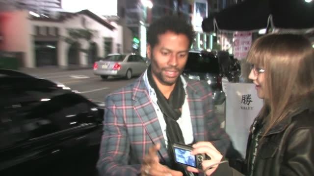 vídeos y material grabado en eventos de stock de eric benet at katsuya in hollywood at the celebrity sightings in los angeles at los angeles ca - eric benet