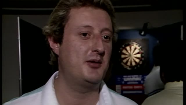 eric bristow 'the crafty cockney' dies aged 60 tx eric bristow interview sot been a pleasure to play in the sport i love - dart stock videos & royalty-free footage
