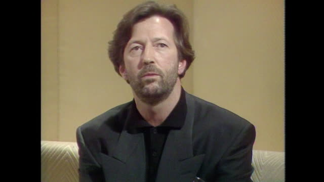 Eric Clapton saying 'the worst thing about drugs is that they feel so nice the first time you take them'