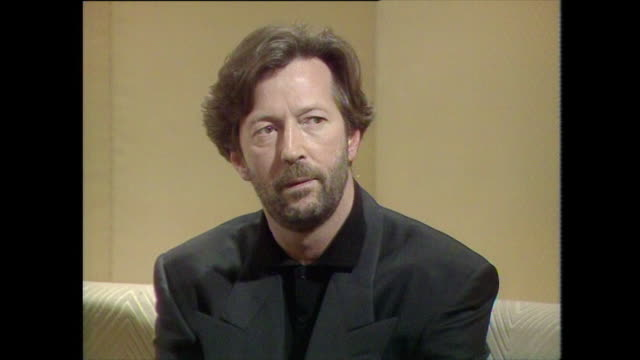 eric clapton talks about derek and the dominos saying 'i wanted to see if the music was good enough to make it on it's ownif it sells well without... - psychedelische musik stock-videos und b-roll-filmmaterial