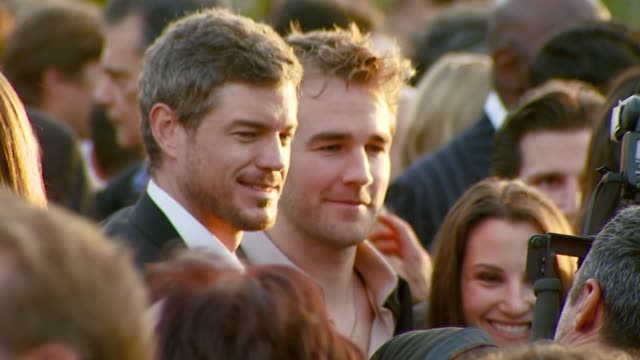 eric dane and james van der beek at the chrysalis butterfly ball at a private residence in los angeles california on june 2 2007 - chrysalis butterfly ball video stock e b–roll