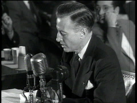 eric johnston makes a statement at the huac's trial of julius and ethel rosenberg / washington dc united states - house committee on unamerican activities stock videos & royalty-free footage
