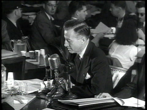 eric johnston making a statement at the hauc's investigation of julius and ethel rosenberg / washington dc united states - house committee on unamerican activities stock videos & royalty-free footage