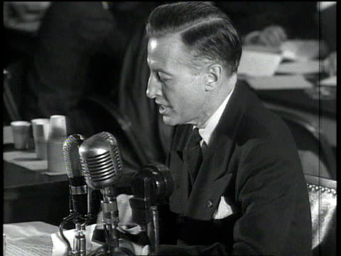 eric johnston making a statement at the huac's trial of julius and ethel rosenberg / washington dc united states - house committee on unamerican activities stock videos & royalty-free footage