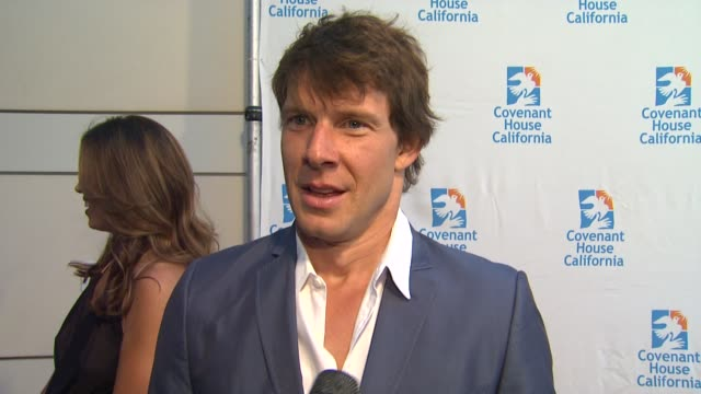 Eric Mabius on the event supporting Vanessa Williams his projects the mini Ugly Betty reunion tonight at Covenant House California 2012 Gala And...