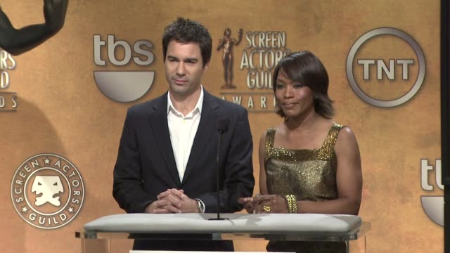 eric mccormack and angela bassett announce the 15th annual screen actors guild awards nominations. at the 15th annual screen actors guild awards... - eric mccormack stock videos & royalty-free footage