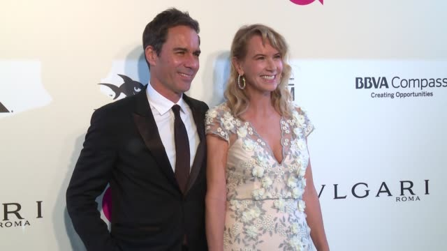 eric mccormack and janet holden at elton john aids foundation presents the 26th annual academy awards viewing party on march 04 2018 in west... - janet holden stock videos & royalty-free footage