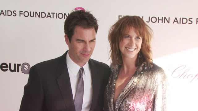 eric mccormack and janet holden at the 18th annual elton john aids foundation oscar party at west hollywood ca. - eric mccormack stock videos & royalty-free footage